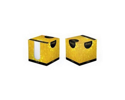 Блок бумажный для записей белый 9*9*9см Hatber iFresh Апельсин