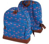 Рюкзак Flamingo текстильный хлопковый для девочки, старшая школа