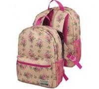 Рюкзак Ergo Цветы на бежевом для девочки, старшая школа