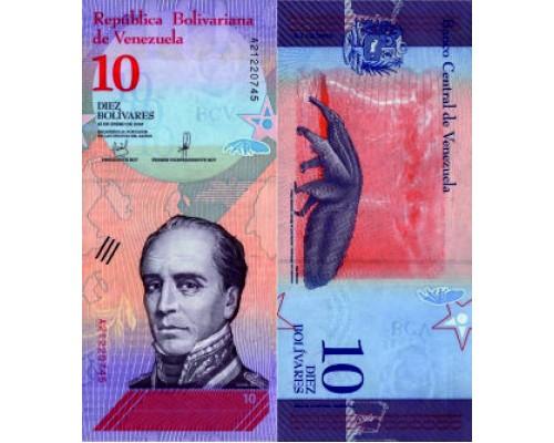 БЕЗ СКИДКИ Банкнота 10 боливаров Венесуэла 2018 KR