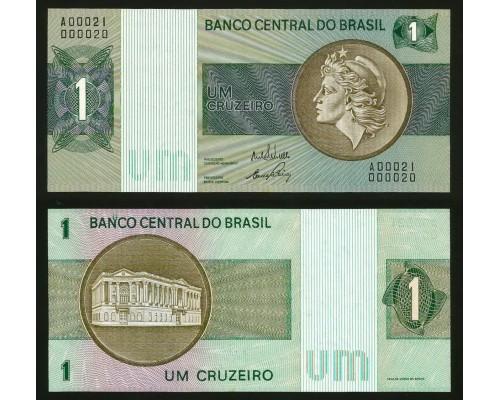 БЕЗ СКИДКИ Банкнота 1 крузейро Бразилия 1970-1972 KR