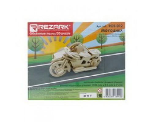 ПАЗЛЫ 3D ROT-012 13.5 x 11 x 7 см мотоцикл фанера