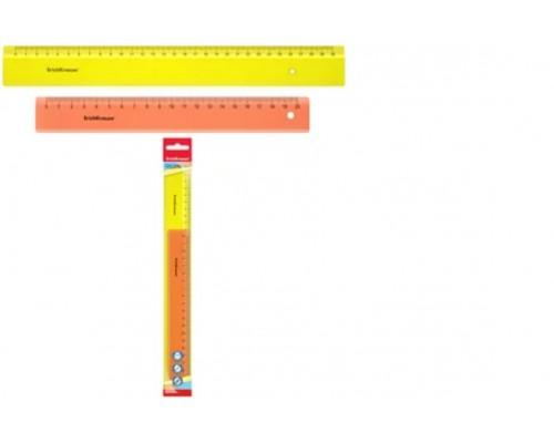 Линейка (набор 2 штуки) 15см и 20 см ErichKrauseR Neon желтый и оранжевый