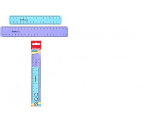 Линейка (набор 2 штуки) 15см и 20 см ErichKrauseR Pastel голубой и фиолетовый
