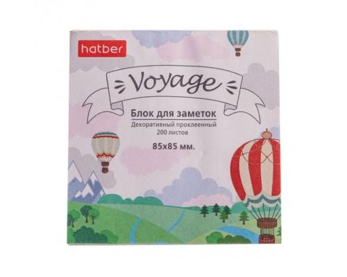 Блок бумажный для записей 85*85мм Hatber Voyage