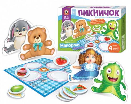 Игра настольная для малышей с объемными фигурками ?Пикничок?
