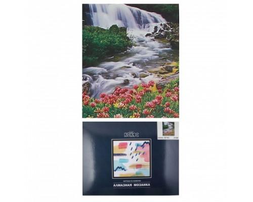 Алмазная мозаика 50*65см КОКОС Водопад полная выкладка холст на подрамнике 211248