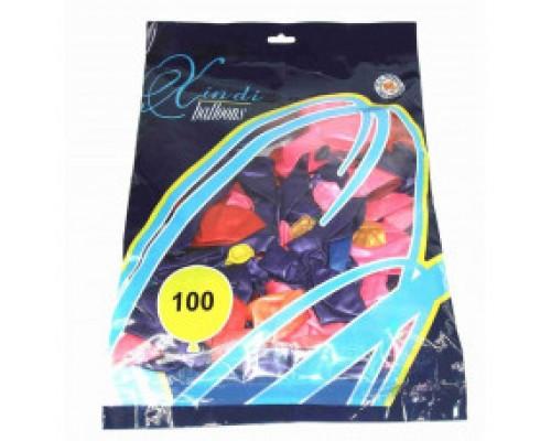 Воздушные шары 30 см в уп 100 шт цена за 1 шт.6514