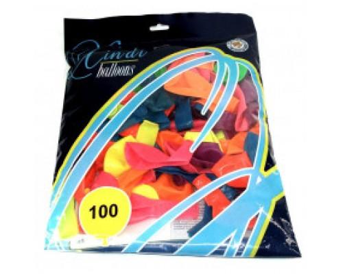 Воздушные шары 30 см в уп 100 шт цена за 1 шт.6516