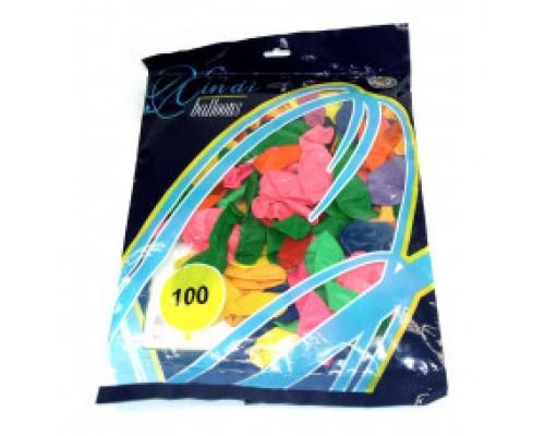 Воздушные шары 30 см в уп 100 шт цена за 1 шт.6512