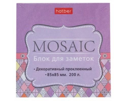Блок бумажный для записей 85*85мм Hatber Mosaic