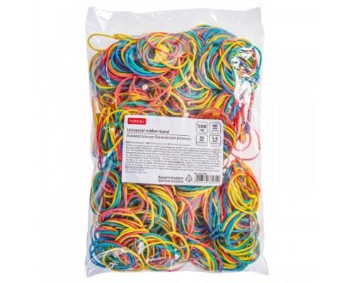 Банковская резинка Hatber 60мм 500г, цветная